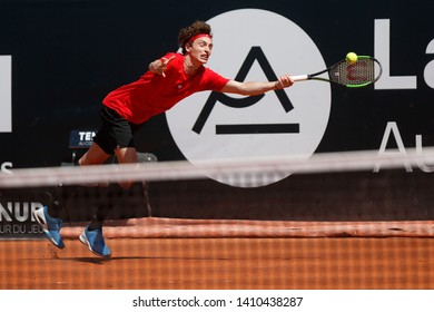 Ugo Humbert (FRA) during the Open Parc Auvergne-Rhone-Alpes Lyon 2019, ATP 250 Tennis tournament on May 22, 2019 at Parc de la Tete d'Or in Lyon, France