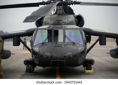 UH-60 Black Hawk Helicopters, Karmėlava Airport, Lithuania 25 03 2021