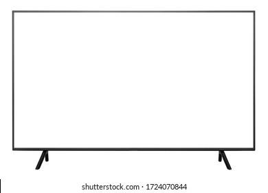 UHD 4k TV on white background