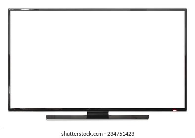 UHD Smart Tv on white background