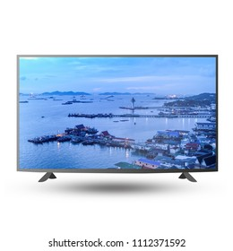 UHD Smart Tv sample display on white background