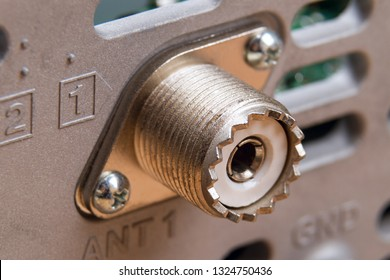 The UHF connector is a dated name for a threaded RF connector