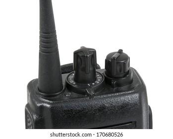 UHF handsets on white background
