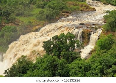 Uhuru Falls in Murchison Falls National Park , Uganda.
