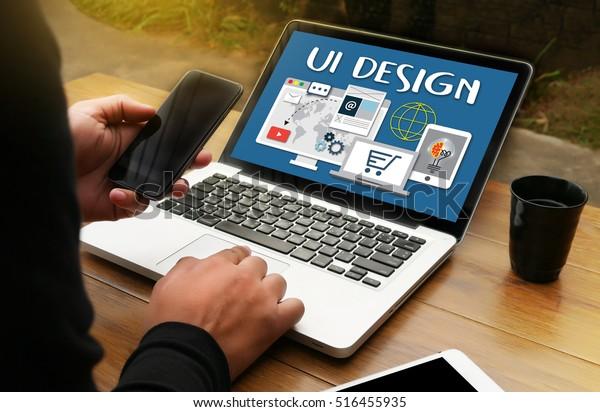 UI Design Website  Software Media WWW to Create Innovation Imagination Development Ideas