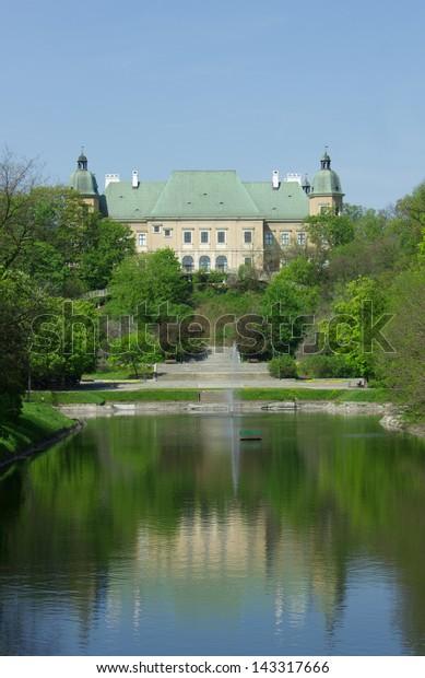 Ujazdow Castle Zamek Ujazdowski Lazienki Warsaw Stock Photo