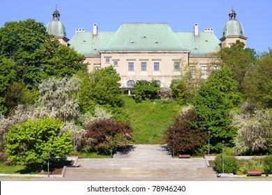 Ujazdowski Castle architecture in Warsaw, Poland