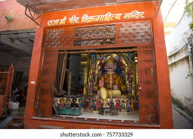 Ujjain / India 16 October 2017 King Vikramaditya Mandir or temple Vikramaditya was a legendary emperor of Ujjain famed for his wisdom valour and magnanimity in Madhya Pradesh India