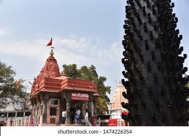 Ujjain, Madhya Pradesh, India - March 5, 2018 : Gayatri Shakti Peeth temple,