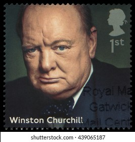 UK, 2014: Portrait of Winston Churchill (1874-1965), British Prime Minister of the UK from 1940-1945 and 1951-1955, also Nobel Prize in Literature winner, an officer in the army, historian and writer.