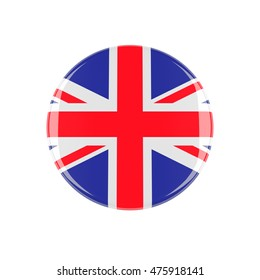 uk 3d button isolated on white background