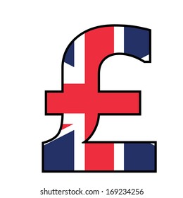 UK Alphabet Illustration - Pound