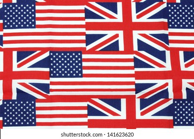 UK and american  flag  background
