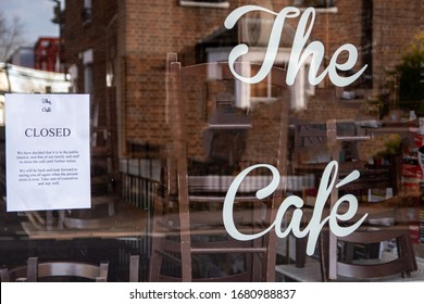 UK cafe close down under coronavirus covid-19 as government says they must shut down