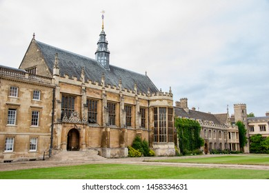 UK, Cambridge - August 2018: Trinity College, Great Court
