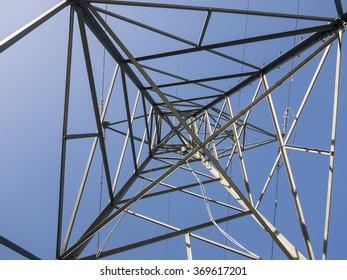 UK Electricity Pylon from below.