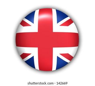 UK Flag Button - White