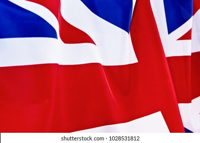 UK Flag flutters in the wind.