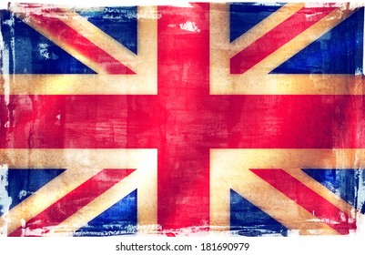 UK flag grunge background