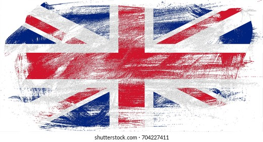UK flag grunge background. Background for design in country flag