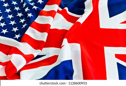 UK flag and USA Flag together.
