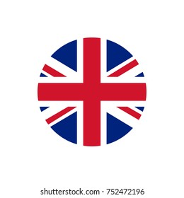 UK of Great Britain flag, official colors and proportion correctly. National UK of Great Britain flag. Raster illustration