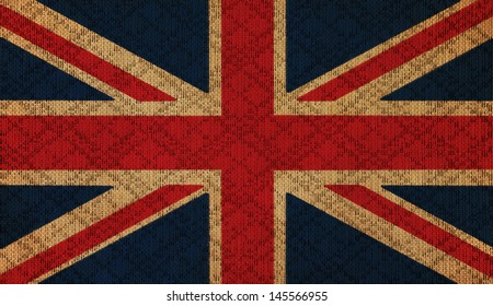 UK grunge canvas flag