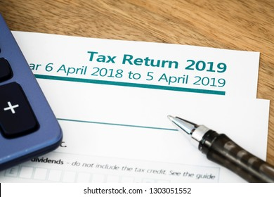 UK HMRC self assessment income tax return form 2019