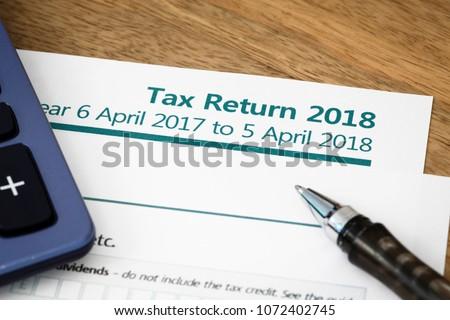 UK HMRC self assessment income tax return form 2018