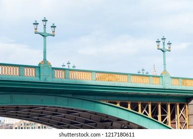 UK, LONDON, 28 October 2017: Southwark Bridge