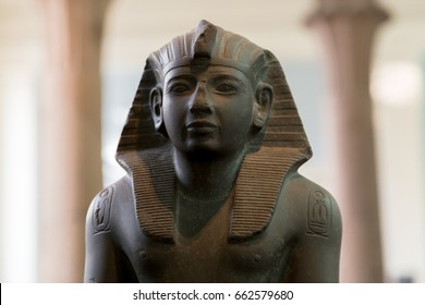 UK, London - April 08, 2015: British Museum. Bust of King Ramesses IV