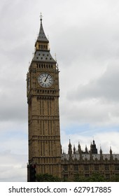 UK, London - August 2016, The Houses of Parliament in Westminster, Big Ben Elizabeth tower