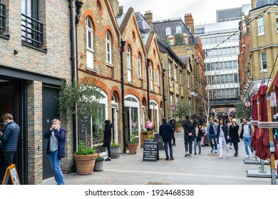 UK, London - February 20 2021: Pavilion Road shopping street, Chelsea, Kensington, London