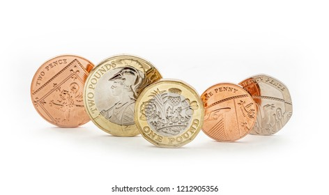 UK money, british coins including penny and pound