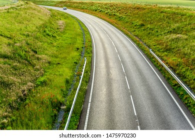 uk motorway road overhead view at daylight