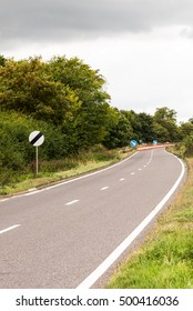 UK Motorway Roadworks Sign.