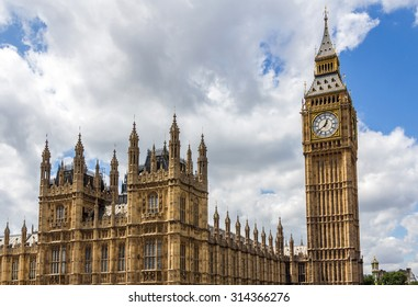 UK Parliament and Big Ben in London, England