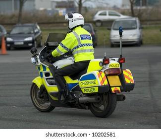 Uk police motorcycle rider