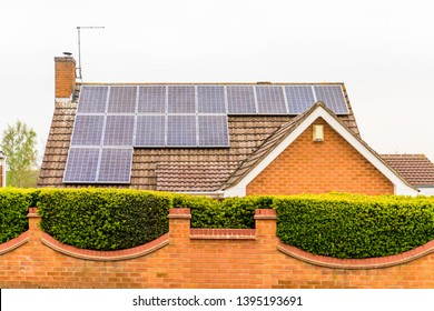 UK Solar Energy Panel on house Roof in northampton uk