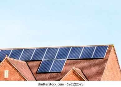 UK Solar Energy Panel on Sunny Roof