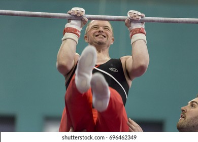 UK Special Olympics in Sheffield, United Kingdom on August 10, 2017. Athletes with learning disabilities from various regions of Great Britain compete for medals in gymnastics.