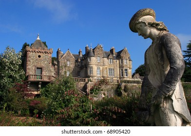 UK Western Scotland Isle of Mull Torosay Castle - Victorian Scottish baronial style architecture and Italian Renaissance style garden
