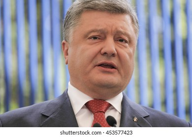 UKIEV, UKRAINE - Jun 03, 2016: Press conference of President of Ukraine Petro Poroshenko in Kiev
