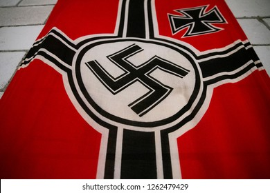 Ukmerge/Lithuania December 16, 2018 German nazi Flag