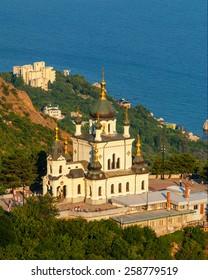 UKRAINE - AUG 6, 2006: Foros Church of the Resurrection of Christ. Foros, Crimea.