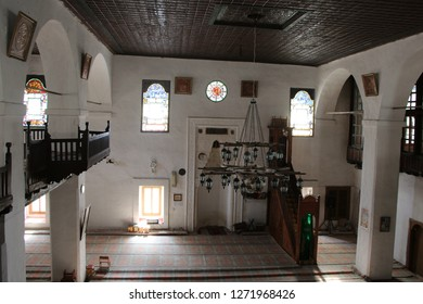 Ukraine, Bakhchisaray - March 07, 2013: Interior of The Big Khan Mosque (Crimean Tatar: Büyük Han Cami). It's one of the largest mosques in Crimea and one of the first buildings of the Khan's palace.