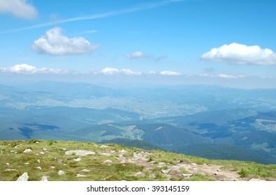 Ukraine, the Carpathian Mountains, the ridge Chernogora, Goverla