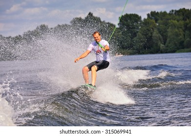 Ukraine. Kiev. 28-29.08.2015 championship wakeboarding among adults (boat version) IWWF