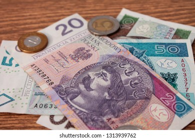 Ukraine, Krivoy Rog. Polish currency. 15/02/2019