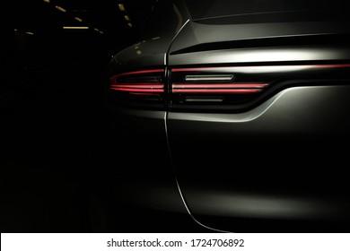 Ukraine, Kyiv - May 5, 2020 : Porsche Cayenne details